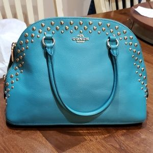 Turquoise Coach bag